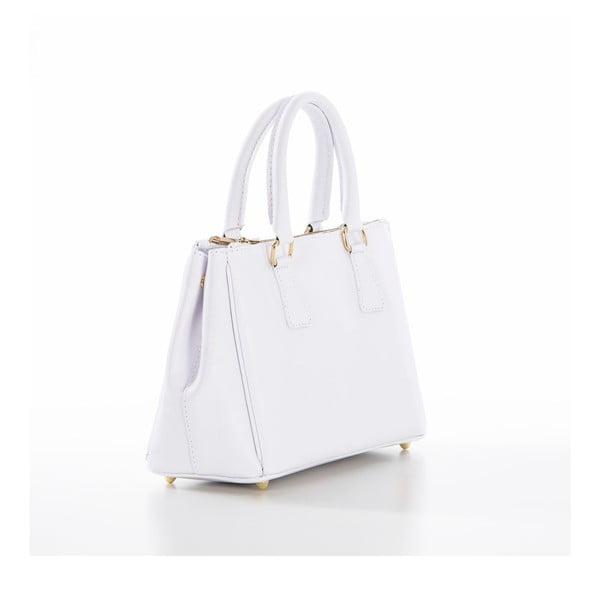 Bílá kožená kabelka Federica Bassi Saffi