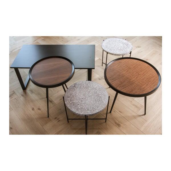 Odkládací stolek z dřevěné dýhy Leitmotiv Bateau