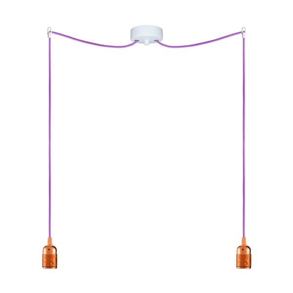 Dva závěsné kabely Uno, měděná/fialová