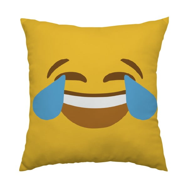 Polštář Emoji Cry, 40x40 cm