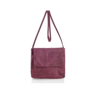 Růžová kožená kabelka přes rameno Woox Costa