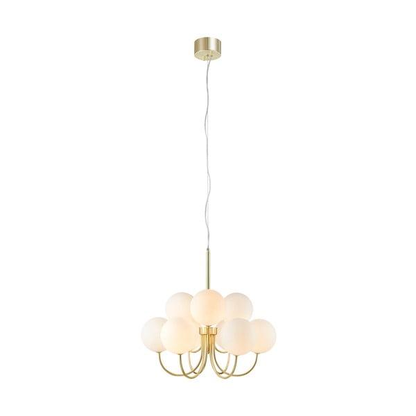 Závesné svietidlo v zlatej farbe Markslöjd Bianco Pendant 9L