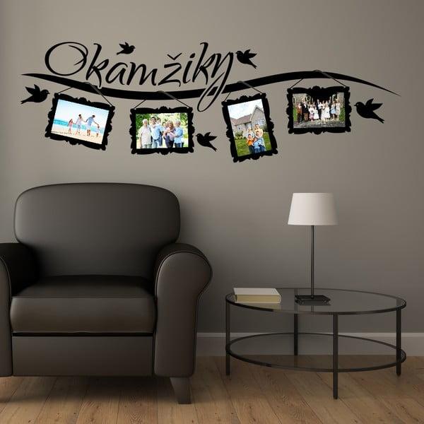Samolepka na stěnu Wallvinil Okamžiky s fotorámečky