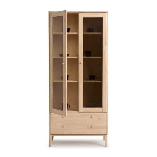 Ručne vyrábaná dvojdverová vitrína z masívneho brezového dreva Kiteen Matinea