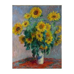 Tablou Claude Monet - Bouquet of Sunflowers , 50x40 cm
