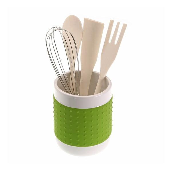 Set 4 kuchyňských nástrojů se stojanem Versa Con Green