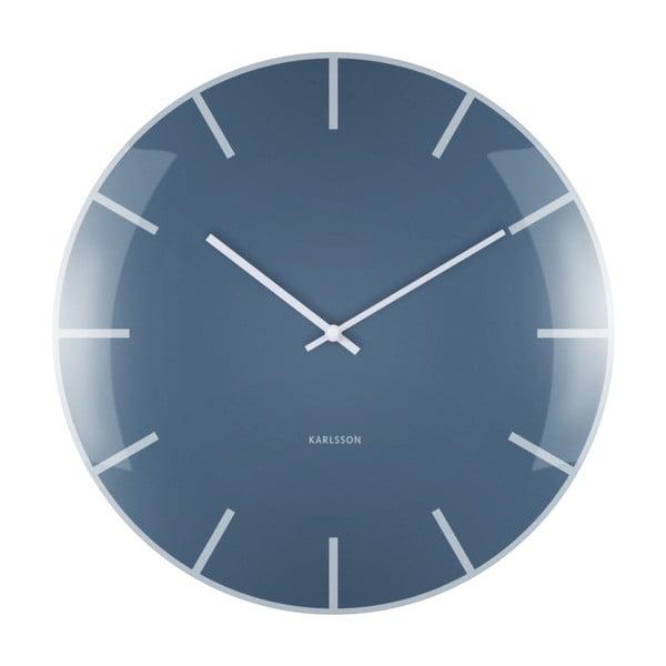 Modré nástěnné hodiny Karlsson Boxtel & Buijs