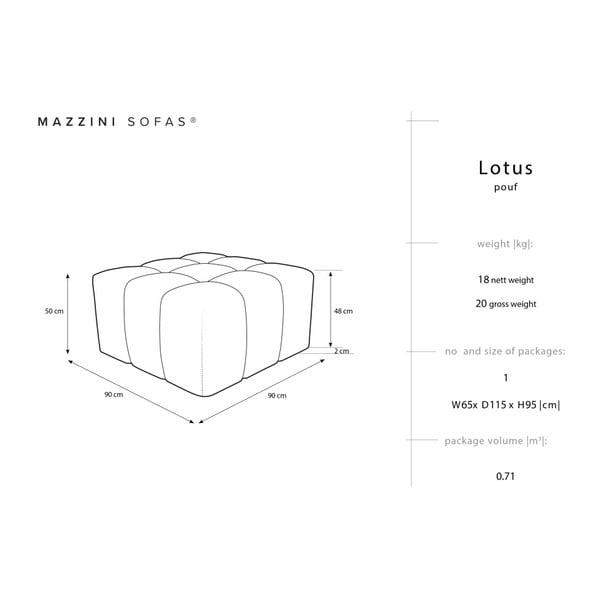 Červená podnožka Mazzini Sofas Lotus