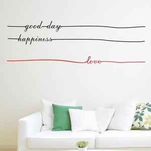 Dekorativní samolepka Letters Lines, 35x110 cm