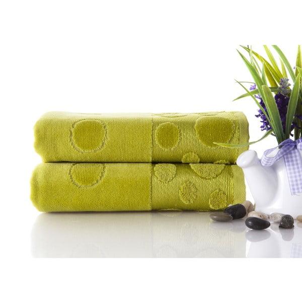 Set dvou ručníků Tropical Green, 50x90 cm