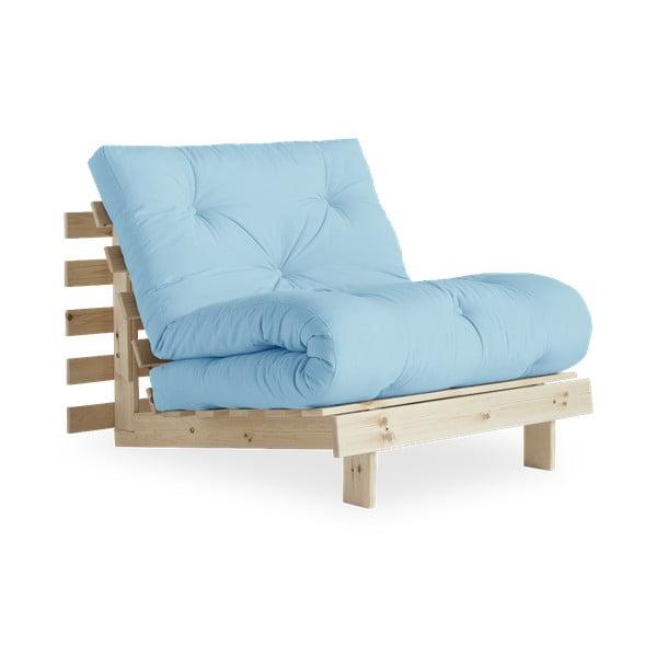 Variabilní křeslo Karup Design Roots Raw/Light Blue