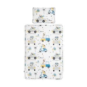 Set păturică matlasată din bumbac și pernă pentru copii BELLAMY Jackie, 100 x 135 cm