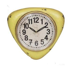 Žluté nástěnné hodiny Antic Line Yellow Vintage