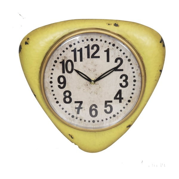 Žlté nástenné hodiny Antic Line Yellow Vintage