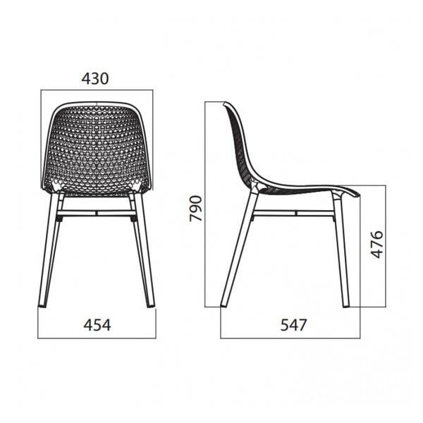Židle Next, modrá