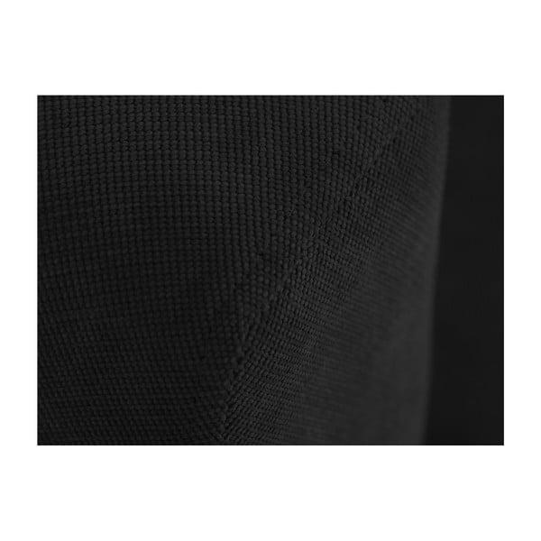 Černá trojmístná rozkládací pohovka s úložným prostorem Cosmopolitan design Sydney, 231x98x95cm