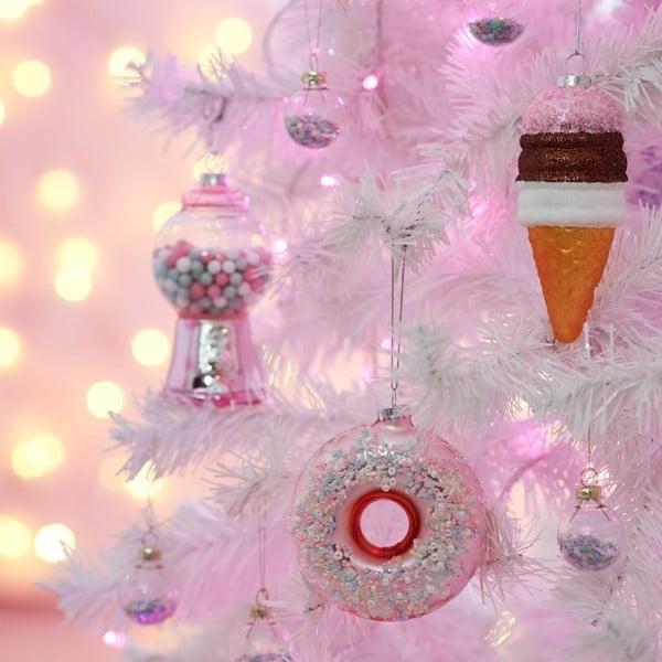 Vánoční baňka ve tvaru donutu Sass & Belle, ø 4,2 cm