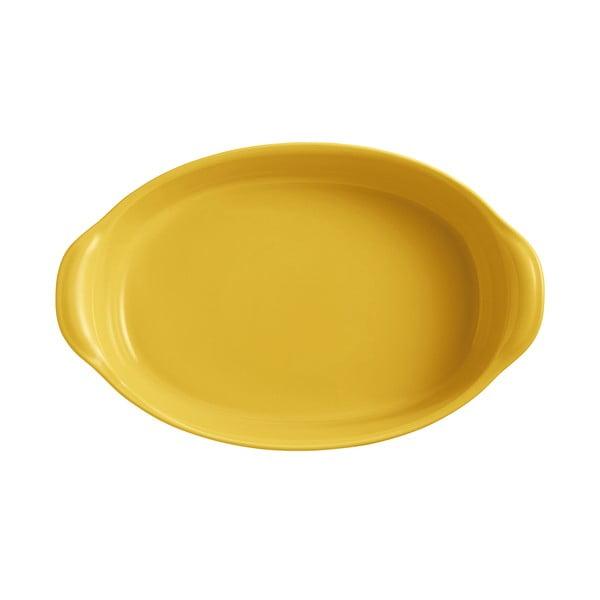 Tavă ovală pentru copt Emile Henry, 3,8 l, galben deschis