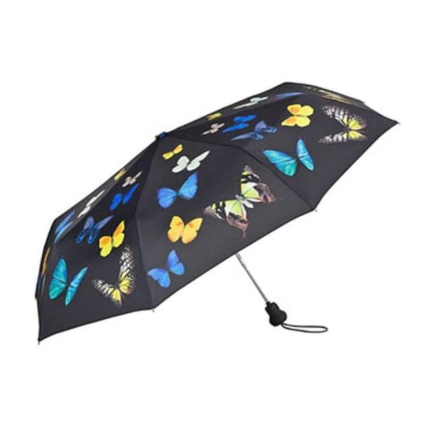 Skládací deštník Von Lilienfeld Butterflies Dance, ø 90 cm