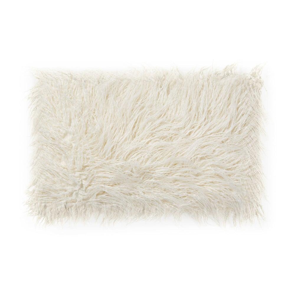Bílý polštář z umělé kožešiny La Forma Brock, 40 x 60 cm