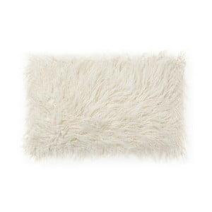 Bílý polštář z umělé kožešiny La Forma Brock,40x60cm