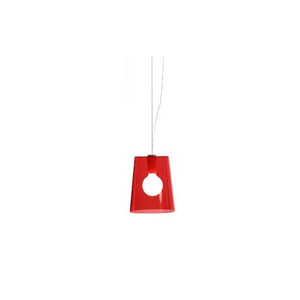 Závěsné svítidlo Pedrali L001S/A, červené transparentní