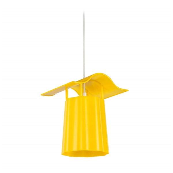 Žltý závesný vonkajší lampáš Luciana
