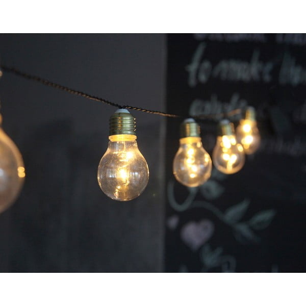 Bílý světelný LED řetěz Best Season Bulbs In Love, 5 světýlek