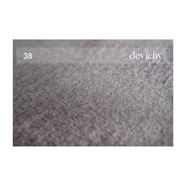 Třímístná pohovka v tmavě stříbrné barvě devichy Chloe, levý roh