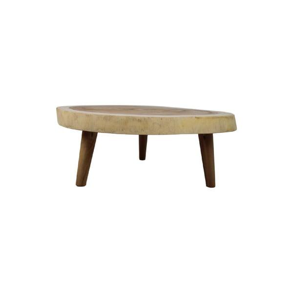 Stolik z drewna munggur HMS collection, ⌀ 50 cm