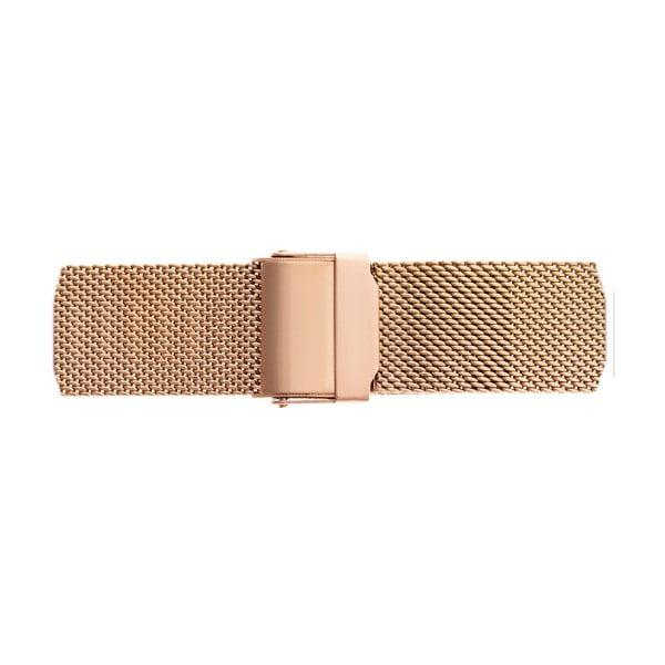 Dámské hodinky s páskem z nerezové oceli v růžovozlaté barvě Emily Westwood Fly