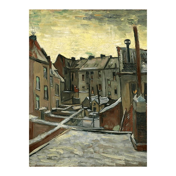 Obraz Vincenta van Gogha - Houses Seen from the Back, 45x60 cm
