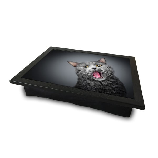 Servírovací podnos s vankúšom na spodnej strane Cat, 36 × 46 cm
