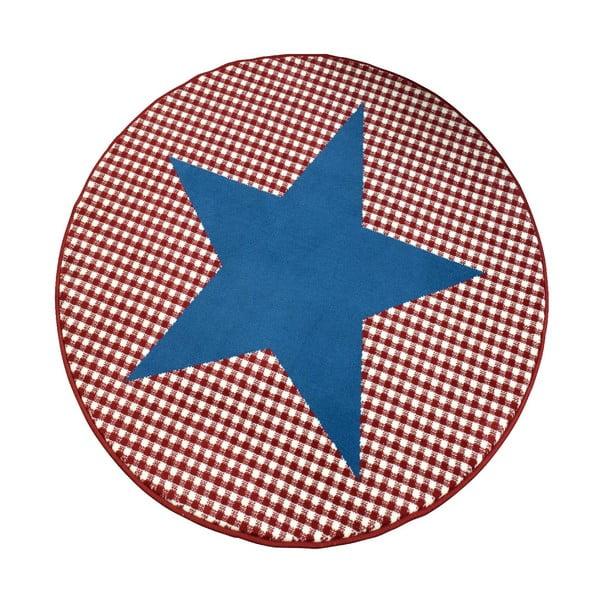 Koberec City & Mix - modrá hvězda, 140 cm