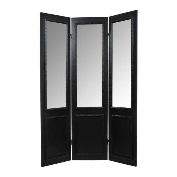 Paravan/zrcadlo Screen Black, 45x180 cm