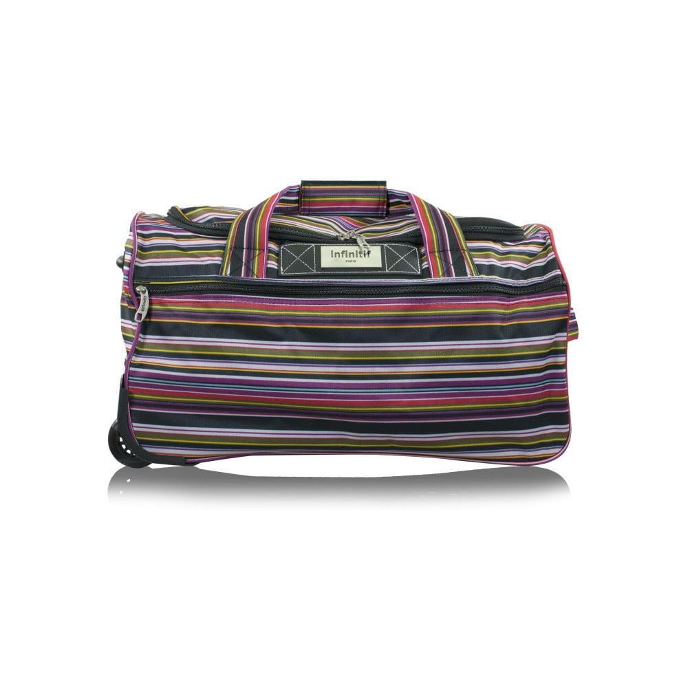 Výsledek obrázku pro Pruhovaná cestovní taška na kolečkách INFINITIF, délka 50 cm  od INFINITIF