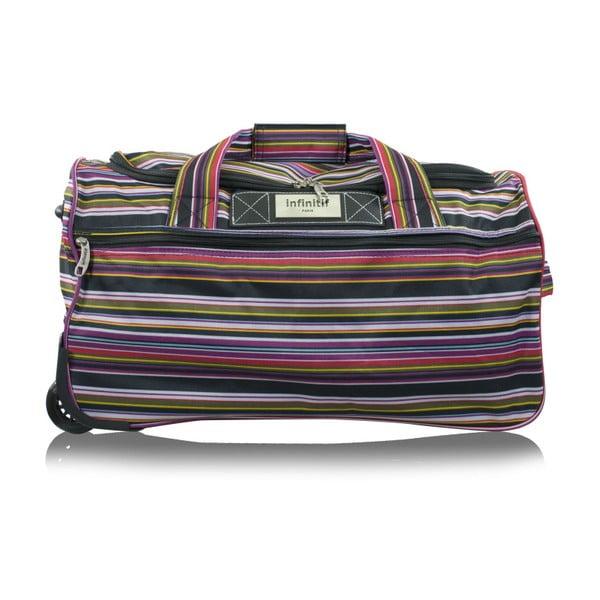 Pruhovaná cestovní taška na kolečkách Infinitif, 66l