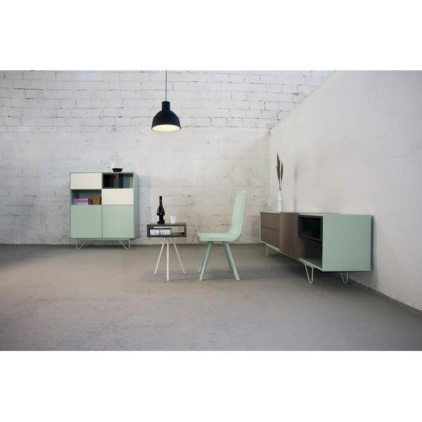 Odkládací stolek Vintme AL2, černá/bílá
