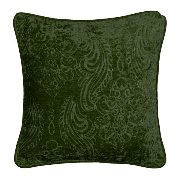 Tmavě zelený povlak na polštář Kate Louise Exclusive Ranejo, 45 x 45 cm