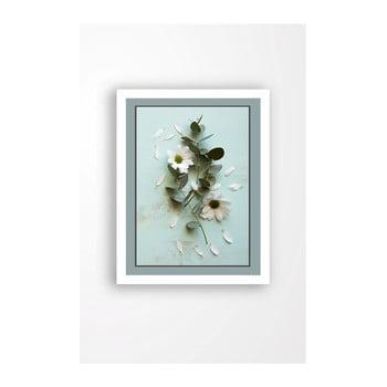 Tablou pe pânză în ramă albă Tablo Center Blue Garden, 29 x 24 cm de la Tablo Center