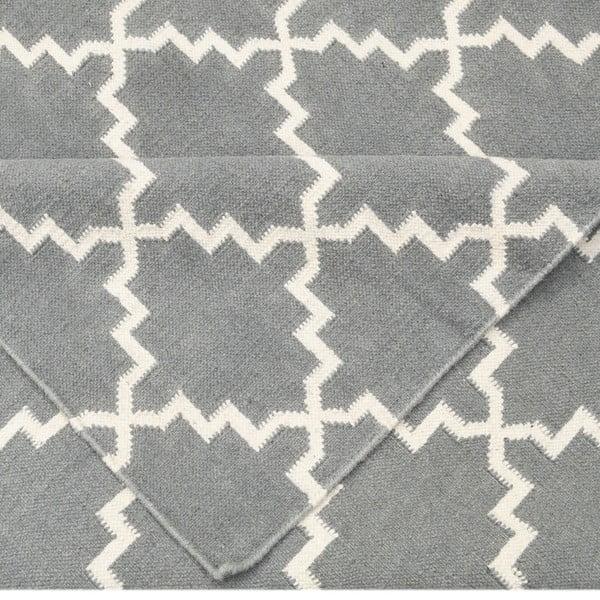 Vlněný koberec Eugenie Grey, 180x120 cm