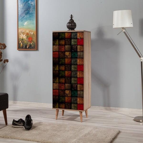 Dřevěný botník Mirto Colorfull