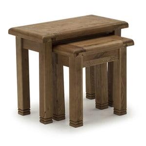 Sada 3 stoliček z dubového dřeva VIDA Living Danube