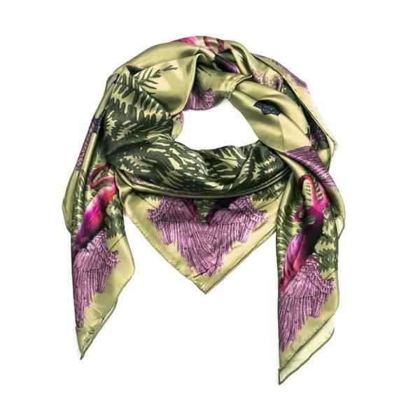 Hedvábný šátek Puna Pink, 130x130 cm