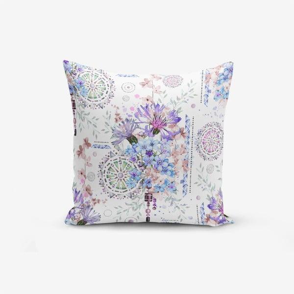 Față de pernă cu amestec din bumbac Minimalist Cushion Covers Blue Purple Isleyen Carklar, 45 x 45 cm