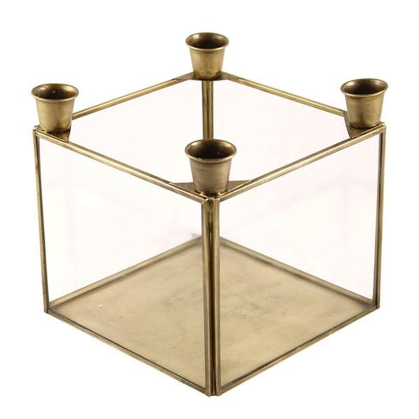 Stojan na 4 svíčky Antique Brass