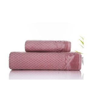 Sada 2 ručníků Acustic Rose, 50x90 cm a 70x140 cm