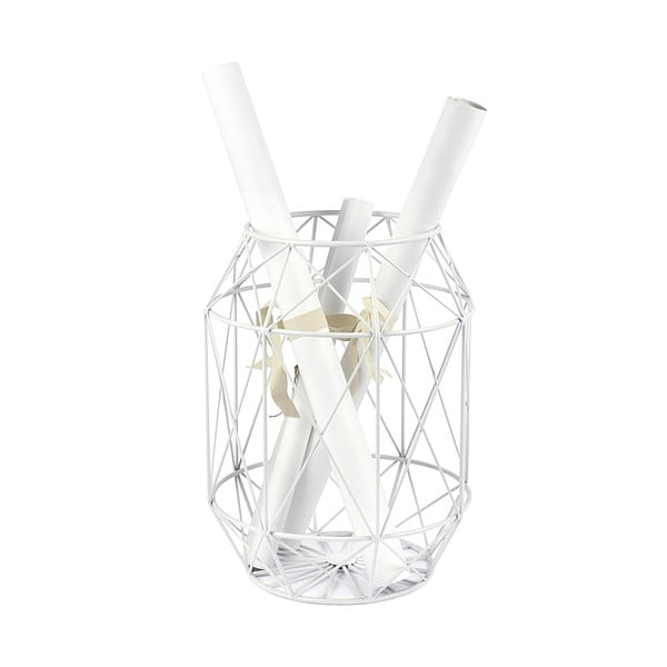 Bílý stolek se snímatelnou deskou z mangového dřeva HF Living Dome