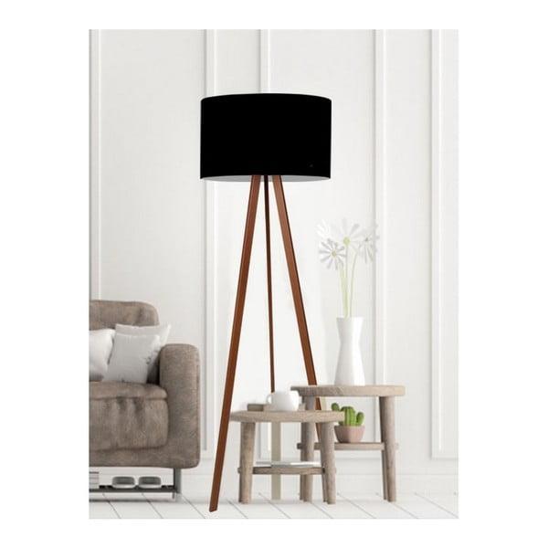 Čierna stojacia lampa Simple