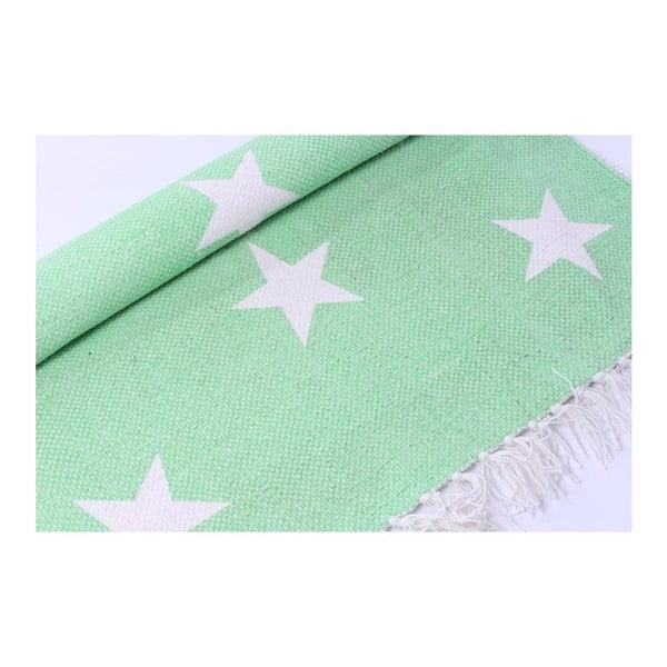 Koberec La Finesse Stars Green, 70x200 cm